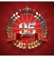 Celebrative Golden Frame for 95th Anniversary vector image vector image