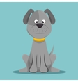 character doggy gray sitting design vector image