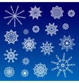 Collection of Various Snowflakes vector image vector image