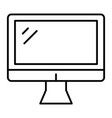 computer monitor thin line icon screen vector image vector image