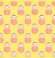 cute baby seamless pattern with roly-poly vector image vector image