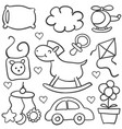 doodle of baby theme element vector image vector image