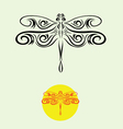 dragonfly decor vector image vector image