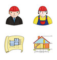 engineer-constructor construction worker site vector image