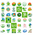 farm food logo set vector image vector image
