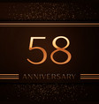 fifty eight years anniversary celebration logotype vector image vector image