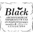 font crosshatch pen line black vector image vector image