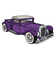 funny vintage violet pickup vector image