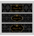 Golden Labels on Damask Background vector image vector image