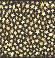 golden stars on dark abstract seamless backgrond vector image