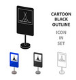 guide road sign icon in cartoon style isolated on vector image vector image