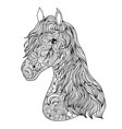 hand drawn horse on white background vector image vector image