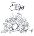 hand drawn ornate easter vector image vector image