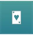 Hearts card icon vector image vector image