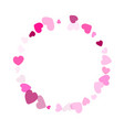 hearts confetti flying background design vector image