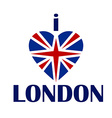 I love London t-shirt print tee typography vector image