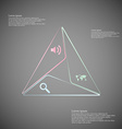 infographic consists three triangles from lines vector image vector image