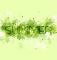 light green shiny summer leaves abstract vector image vector image