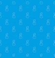 maid pattern seamless blue vector image
