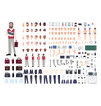 male teacher constructor or diy kit collection of vector image vector image