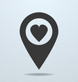Map pointer with a heart symbol vector image