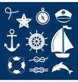 Marine symbol Nautical design elements vector image vector image