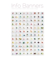 Mega collection of geometric info banners paper vector image
