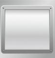 metallic plaque background vector image vector image
