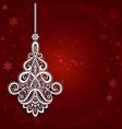 ornamental christmas background vector image vector image