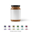 peanut almond or nut butter in glass jar vector image