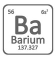 periodic table element barium icon vector image vector image