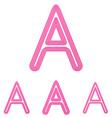 Pink letter a logo design set vector image vector image