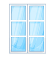 Plastic window outside vector image