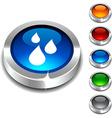 Rain 3d button vector image vector image