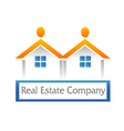 Real estate houses logo vector image vector image