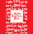 red background with white brush strokes and vector image vector image