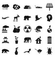 resources icons set simple style vector image vector image