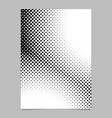 retro halftone dot pattern background brochure vector image vector image