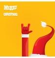 Santa Claus rock n roll icon vector image vector image