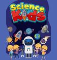 science kids logo and kids wearing engineer vector image vector image