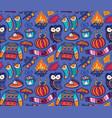 seamless autumn pattern with pumpkin jumper vector image