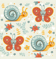 seamless ornament decorative cartoon vector image vector image
