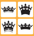 set of icons with royal crowns vector image