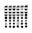 set of laundry dry icons vector image