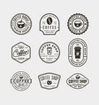 set of modern vintage coffee shop labels vector image vector image