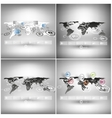 Set of world maps in perspective infographic vector image