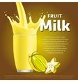 Star fruit sweet milkshake dessert cocktail vector image vector image
