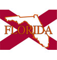 state of florida vector image