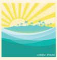 tropical island with palms nature seascape vector image vector image