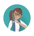 Userpic of a Business Lady Woman at Work Icon vector image vector image